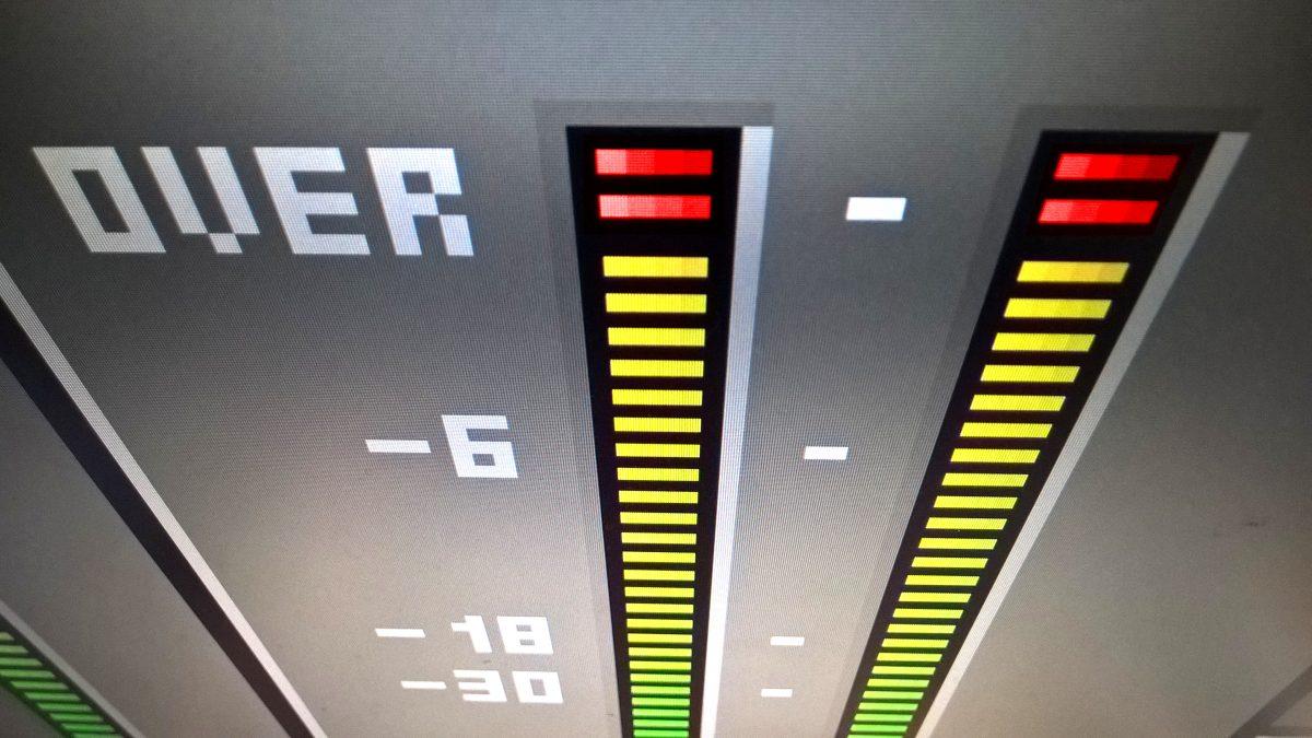 Fehler 1 beim Musik zuhause aufnehmen: Zu laut aufnehmen